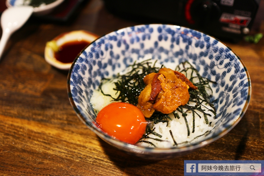 海膽雞蛋飯780円(約港幣$55) 入口味道偏淡,加點醬油更好味。